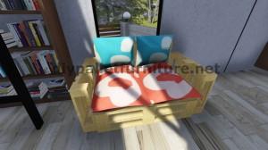Des instructions étape par étape et des plans sur la façon de faire un canapé avec des palettes facilement 9