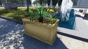 Instructions et dessins 3D de la façon de faire un planteur avec des palettes 12