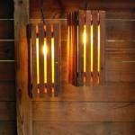 Instructions sur la façon de faire une lampe avec des palettes en bois