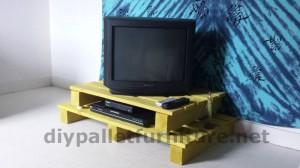 Meuble TV avec une seule palette