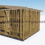 Plans 3D pour la construction d'une cabine ou d'un magasin de palettes