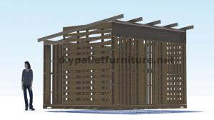 Plans 3D pour la construction d'une cabine ou d'un magasin de palettes 10