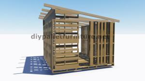 Plans 3D pour la construction d'une cabine ou d'un magasin de palettes 2
