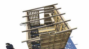 Plans 3D pour la construction d'une cabine ou d'un magasin de palettes 5