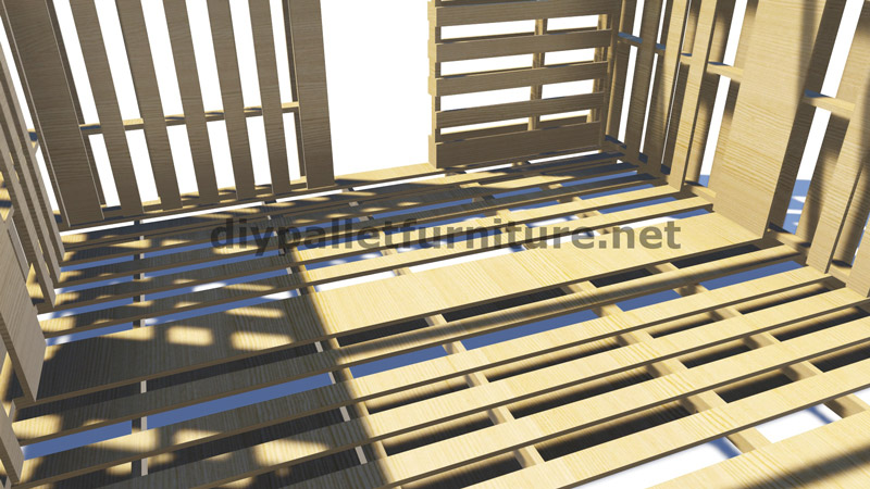 plans 3d pour la construction d une cabine ou d un magasin de palettesmeuble en palette meuble. Black Bedroom Furniture Sets. Home Design Ideas