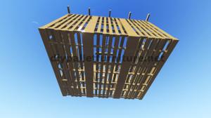 Plans 3D pour la construction d'une cabine ou d'un magasin de palettes 7