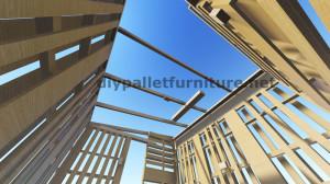 Plans 3D pour la construction d'une cabine ou d'un magasin de palettes 8