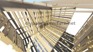Plans 3D pour la construction d'une cabine ou d'un magasin de palettes 9
