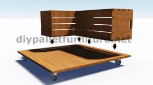 Plans et instructions sur la façon de construire une table avec des boîtes de fruits 3