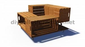 Plans et instructions sur la façon de construire une table avec des boîtes de fruits 4