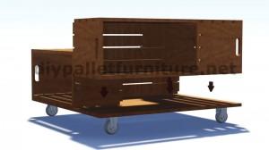 Plans et instructions sur la façon de construire une table avec des boîtes de fruits 5