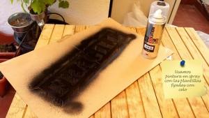 Réalisez des stampes sur vos meubles de palette avec la peinture en aérosol 6