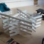 Table de design fait avec des planches de palettes