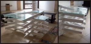 Table de design fait avec des planches de palettes 2