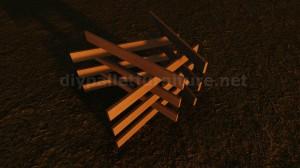 Table de design fait avec des planches de palettes 7