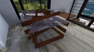 Table de design fait avec des planches de palettes 8