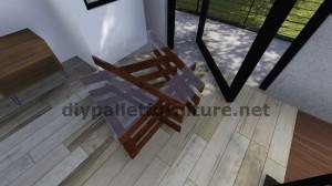 Table de design fait avec des planches de palettes 9