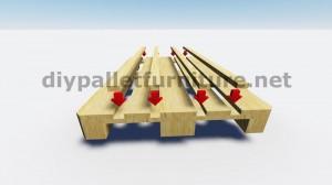 Table flottant avec des palettes 6