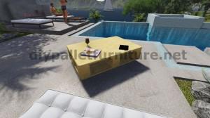 Table flottant avec des palettes 9