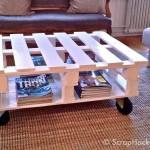 Comment faire une table basse avec deux palettes
