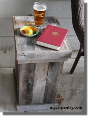 Comment faire une table de chevet et une bo te d corative - Comment faire une table avec des palettes ...