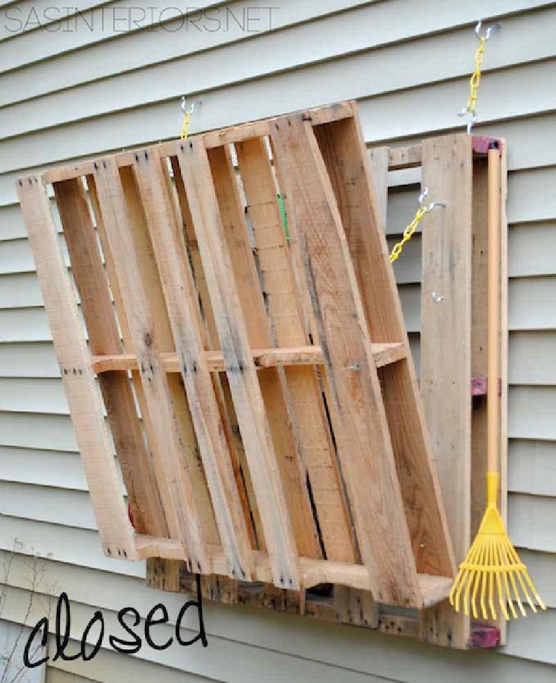 Comment faire une table pliante pour le jardinmeuble en palette meuble en p - Fabriquer une table pliante ...