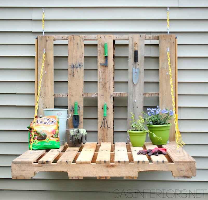 Comment faire une table pliante pour le jardinmeuble en palette meuble en palette - Comment fabriquer table de jardin ...
