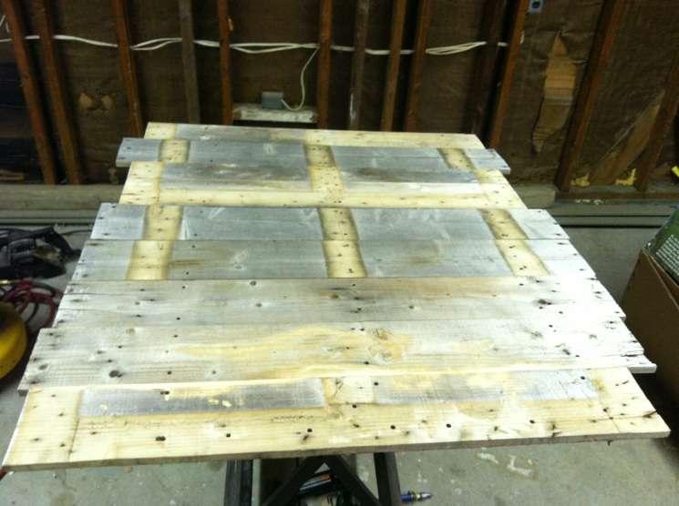 faire une table avec seulement planches de palettesmeuble en palette meuble en palette. Black Bedroom Furniture Sets. Home Design Ideas