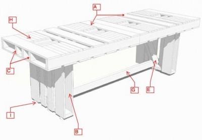 Instructions sur la façon de faire une table avec des palettes pour la salle à manger 2