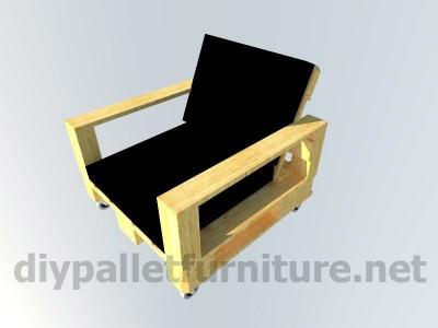 Jardin meuble en kit Fauteuil extérieur avec des palettes  12