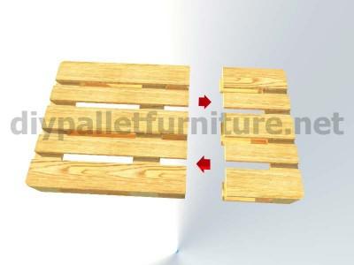 Jardin meuble en kit Fauteuil extérieur avec des palettes  3