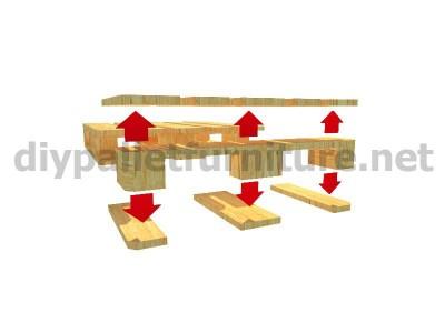 Jardin meuble en kit Fauteuil extérieur avec des palettes  4