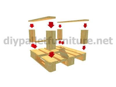 Jardin meuble en kit Fauteuil extérieur avec des palettes  6