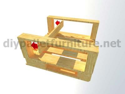 Jardin meuble en kit Fauteuil extérieur avec des palettes  7