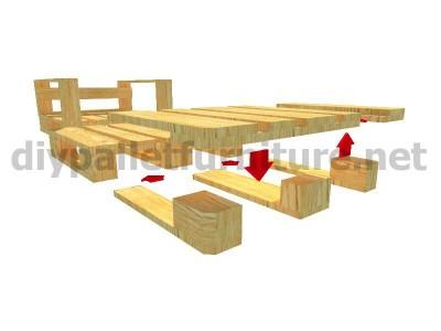 Jardin meuble en kit Fauteuil extérieur avec des palettes  8