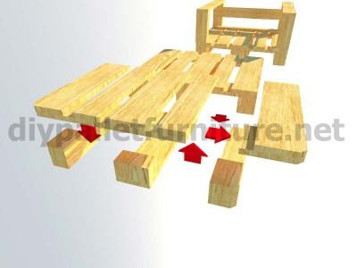 Meubles en kit pour le jardin fauteuil ext rieur avec des - Meuble exterieur en palette ...