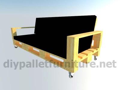 Jardin meubles en kit canapé d'extérieur avec des palettes 10