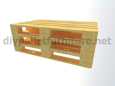 Jardin meubles en kit canapé d'extérieur avec des palettes 2