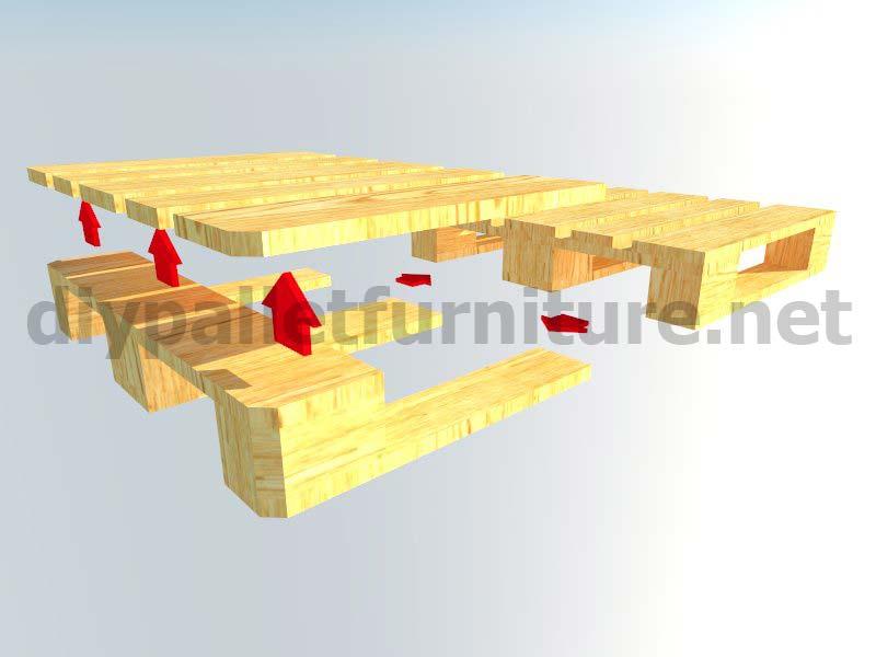 Meubles en kit pour le jardin canap d ext rieur avec des palettesmeuble en - Canape en palette plan ...