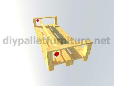 Jardin meubles en kit canapé d'extérieur avec des palettes 6