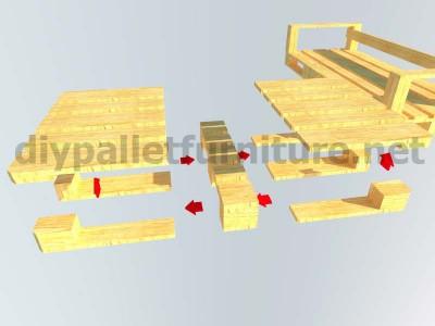 Jardin meubles en kit canapé d'extérieur avec des palettes 7