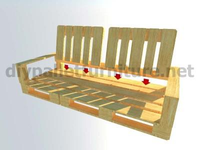 Jardin meubles en kit canapé d'extérieur avec des palettes 8