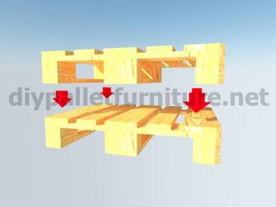 Jardin meubles en kit une table avec un seul Europalet 3