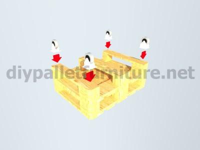 Jardin meubles en kit une table avec un seul Europalet 4