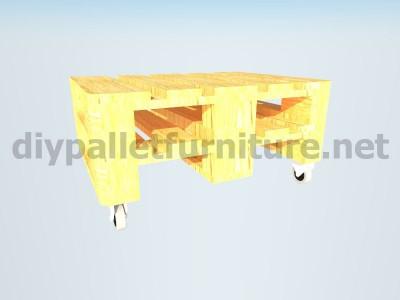 Jardin meubles en kit une table avec un seul Europalet 5