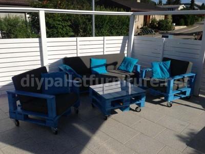 Jardin meubles en kit une table avec un seul Europalet 6