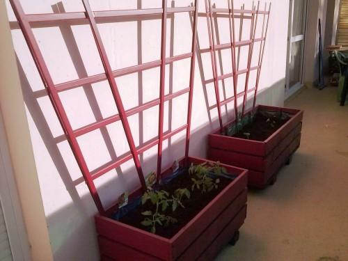 La jardini re de manou fait avec des palettesmeuble en - Jardiniere avec palette ...
