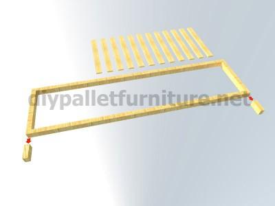Les plans et les instructions sur la façon de faire un bureau avec des palettes 4