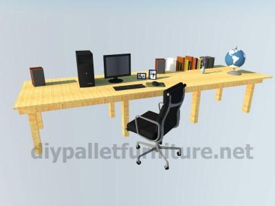 les plans et les instructions sur la fa on de faire un bureau avec des palettesmeuble en palette. Black Bedroom Furniture Sets. Home Design Ideas