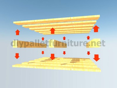 Plans and instrucLes plans et les instructions sur la façon de faire tions of how to do a desk with pallets 3